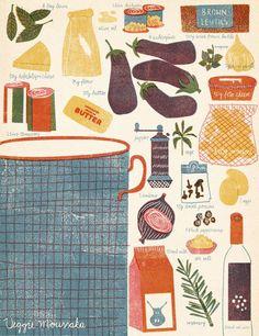 """Fine Art Print """"Veggie Moussaka"""" via Barbara Dziadosz. Click on the image to see more!"""