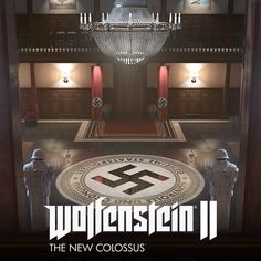 Wolfenstein The New Colossus // Gestapo Office, Bryn Felton-Pitt Enemy Front, Wolfenstein 2, The New Colossus, High Castle, The Third Reich, Alternate History, Dieselpunk, Art And Architecture, Modern Architecture