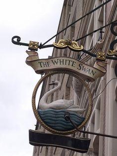 The White Swan - Vauxhall Bridge Road, Pimlico, London - pub sign by ell brown, via Flickr