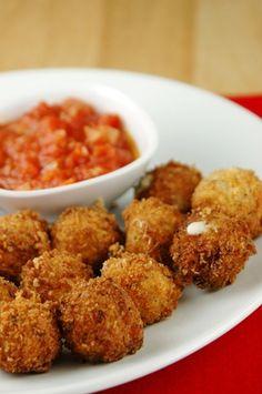 Fried Mozzarella Balls with Quick Tomato Sauce Recipe