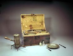 Camp Chests.  George Washington ordered two on May 3, 1776. in Smithsonian.  Revolutionary War