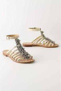 6 Beautiful Sandals for the Beach Bride . Shoes Flats Sandals, Cute Sandals, Shoe Boots, Heels, Flat Sandals, Sparkly Sandals, Pretty Sandals, Flat Shoes, Beach Shoes