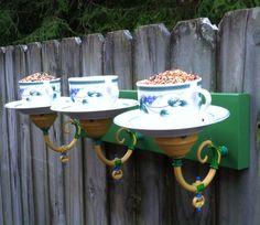 3 Teacup Birdfeeder-Watering Station - how to!