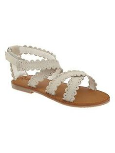 Suede scalloped sandals | Gap
