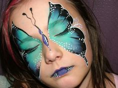 Trucco viso carnevale, foto spunti make up per carnevale (halloween manualidades adolescentes) Mime Face Paint, Girl Face Painting, Belly Painting, Face Painting Designs, Face Paintings, Butterfly Face Paint, Butterfly Makeup, Homemade Face Paints, Homemade Paint