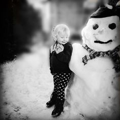 Katie and the snowman