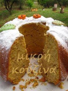 μικρή κουζίνα: Κέικ με κολοκύθα και φουντούκια Greek Cooking, Healthy Sweets, Dairy Free, Bread, Cookies, Recipes, Greek Beauty, Food, Chocolates