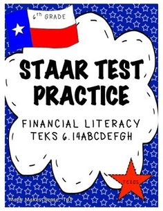 Staar test practice data analysis new teks grade 6 math from math free 10 staar formatted assessment questions that address the personal financial literacy standards for grade malvernweather Images