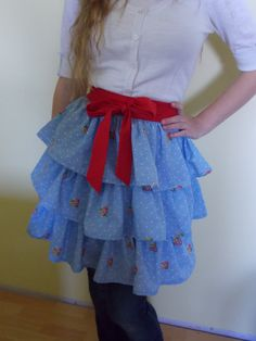 Hand Sewn Triple Tiered Half Apron Made From by content2Bsew