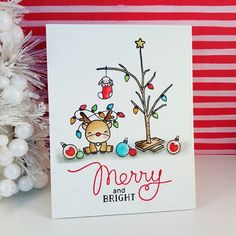 weihnachten aquarell Find Mama Elephant in Australia at dawnlewis. - Find Mama Elephant in Australia at dawnlewis. Handmade Christmas Tree, Christmas Tree Cards, Xmas Cards, Christmas Art, Diy Cards, Holiday Cards, Christmas Games, Homemade Christmas, Christmas Stockings
