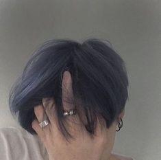 New hair blue ulzzang Ideas Korean Boys Ulzzang, Ulzzang Boy, Ulzzang Hair, Boy Hairstyles, Trendy Hairstyles, Pelo Ulzzang, Hair Color Blue, Purple Hair, Hair Colors