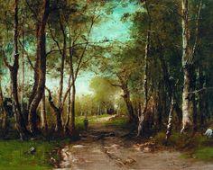 Munkácsy Mihály magyar festő (1844-1900) Tájkép, (Worcester Art Museum, Worcester)