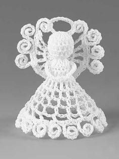 Itty Bitty Angels Crochet Patterns More Beaded Angels, Crochet Angels, Crochet Cross, Thread Crochet, Crochet Motif, Crochet Yarn, Crochet Patterns, Doilies Crochet, Crochet Stitches