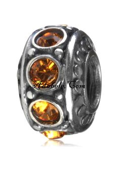 This beautiful topaz November birthstone .925 Sterling Silver European charm fits Pandora, Biagi Trollbeads, Chamilia, and most charm bracelets find out more at adabele.com