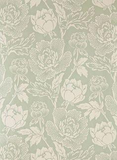 Peony von Farrow & Ball - Vert de Terre/ Joa's White