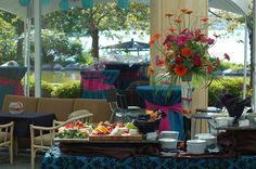 Blue wedding buffet table