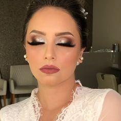 Makeup Eye Looks, Eye Makeup Steps, Wedding Makeup Looks, Cute Makeup, Glam Makeup, Eye Makeup Art, Dramatic Wedding Makeup, Wedding Day Makeup, Bride Makeup