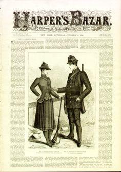 Front Page, Harper's Bazar, October 1890