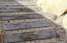 Concrete Pavers stepping stones Sleeper Look path wood Grain Large Backyard Landscaping, Driveway Landscaping, Pergola Patio, Landscaping Ideas, Patio Pond, Pergola Ideas, Patio Ideas, Backyard Ideas, Concrete Sleepers