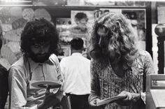 Robert and Jimmy shopping at Bleecker Bob's record store, New York, 1970