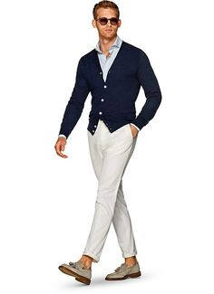 Navy Cardigan Sw801   Suitsupply Online Store