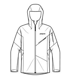 Patagonia Technical Illustrations Product and Instructional illustrations 2013 — 2017 Catalog Illustrations to explain the technical aspects of. Flat Drawings, Flat Sketches, Dress Sketches, Technical Illustration, Medical Illustration, Technical Drawings, Illustrations Techniques, Design Illustrations, Fashion Design Portfolio
