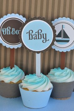 Oh Boy Baby Shower PRINTABLE Party Full Collection by lovetheday, $45.00