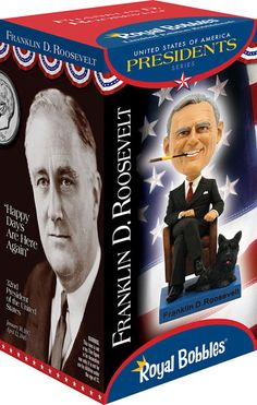 32nd President #FDR #bobblehead collector's box at Bobbleheads.com