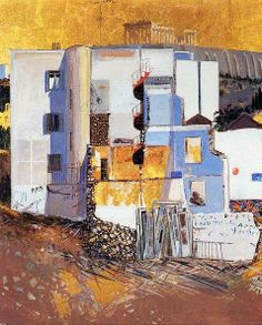 Spyros Vassiliou (1903-1985) Athens Greek Paintings, Abstract Paintings, Modern Art, Contemporary Art, Athens Acropolis, Street Art, 10 Picture, Art Design, Conceptual Art