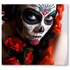 Amazing collection of Dia de los Muertos makeup tutorials.