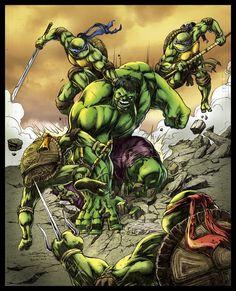 Teenage Mutant Ninja Turtles vs. the Hulk