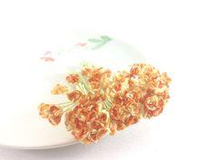 50 Mini Orange Gypsophila Mulberry Paper Flowers Wedding Card Scrapbook Love #Handmade