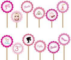 Imprimibles para fiesta de Barbie Silueta. | Ideas y material gratis para fiestas y celebraciones Oh My Fiesta!