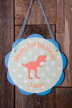 Dinosaur Door Sign Birthday Party