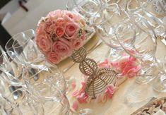 ラマージュ様の装花 ピンク+バラ+ボール