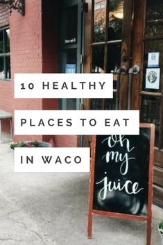 10 healthy places to eat in Waco