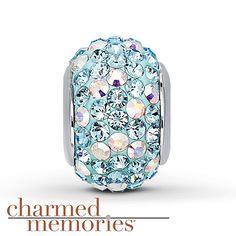 Charmed Memories Swarovski Elements Sterling Silver Charm- Kay Jewelers