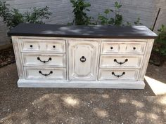 Shabby+Chic+Black+and+White+9+Drawer+Dresser+by+bshabbyboutique,+$465.00