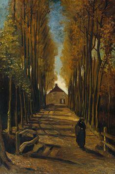 """Vincent van Gogh (Dutch, 1853-1890), """"Populierelaantje in de herfst/Avenue of poplars in Autumn"""" (1884)"""