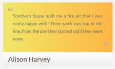 Southern Scape LLC - read testimonials from our clients!