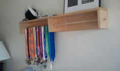 IKEA Hackers: CD Rack Turned Medal Holder