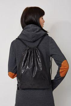 Plecak damski Plecak worek, od projektanta Kamila Gronner | Mustache.pl