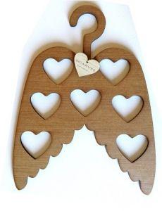 Scarf Hanger Angel Wings Oak