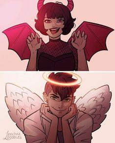 Cartoon As Anime, Cartoon Kunst, Girl Cartoon, Cartoon Art, Cartoon Wallpaper, Power Puff Girls Z, Super Nana, Ppg And Rrb, Angel And Devil