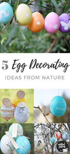 Here are five egg decorating ideas for Easter inspired by nature and the world around us. Great ideas for kids of all ages! Art Activities For Kids, Easter Activities, Easter Crafts For Kids, Creative Activities, Crafts To Do, Easter Ideas, Painting For Kids, Drawing For Kids, Art For Kids