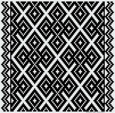 Kvarder i smøyg – Vevstua Bull-Sveen Afghan Crochet Patterns, Weaving Patterns, Mosaic Patterns, Crochet Stitches, Knitting Patterns, Crochet Diagram, Crochet Chart, Cross Stitch Designs, Cross Stitch Patterns