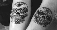 Matching tattoos Friends and Skulls on Pinterest
