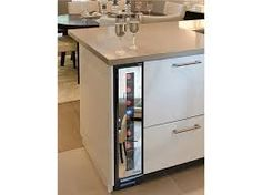 Image result for slim wine fridge kitchen