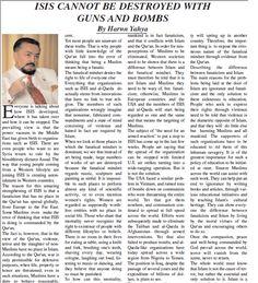 IŞİD topla tüfekle yok olmaz