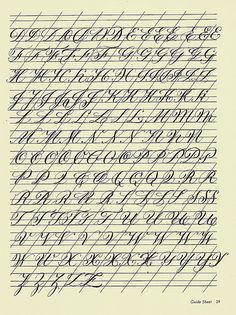 Copperplate Practice Sheet 4 | Flickr - Photo Sharing!